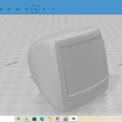 2020-10-27 (52).png Download free STL file iMac G3 • 3D printing template, The_Designer