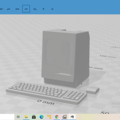 2020-10-27 (7).png Download STL file Macintosh with keyboard and mouse • 3D print object, The_Designer