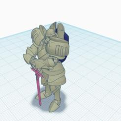 HiltRestFrontBack.png Télécharger fichier STL gratuit Forgé avec une épée et un bouclier • Objet à imprimer en 3D, puffinpuffs