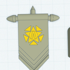 InitiativeBanner.png Download free OBJ file Initiative Banner with Emblem • 3D printable object, puffinpuffs