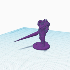 lancewarforged.png Download free STL file Warforged with Lance • 3D print model, puffinpuffs