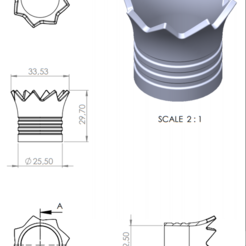 MEASURES.PNG Télécharger fichier STL BRACCIO DI FERRO (COURONNE DE CHARIOTS À AUBES) - NACORAL • Objet imprimable en 3D, disegno3d