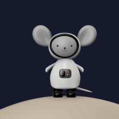 r1.png Télécharger fichier OBJ Jouet de souris astronaute - Jouet design • Plan pour imprimante 3D, kpma98
