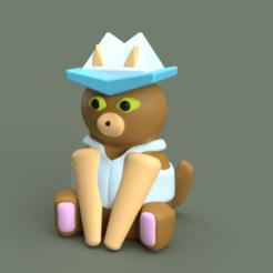 Gato Taquero Render (1).png Download STL file Art Toy Taquero Cat • Model to 3D print, FabianaHe