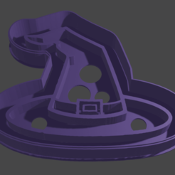 1.png Download STL file cookie cutter witch hat • 3D printable template, BelmontDesign