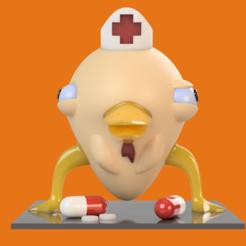 frente.png Download STL file Medically insane chicken • 3D printable model, aylingho