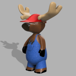 Captura de Pantalla 2020-10-27 a la(s) 13.39.07.png Download STL file Mechanical Moose • Model to 3D print, MariaRomo