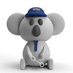 koala01.png Download free STL file Police Koala • Model to 3D print, yessicadelavega