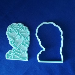 IMG_20200322_160411.jpg Download free STL file Elsa Cookie Cutter • 3D printer design, sabern