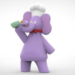 untitled.10.jpg Download STL file Chef elephant • 3D print object, Jimena_cr7