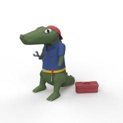 croc.1208.jpg Download free STL file Smokey: Crocodile mechanic. • 3D print model, Alexpch5