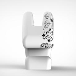 RENDER1.png Download STL file CHEF RABBIT • 3D printer design, pau_esponda