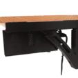 DERECHAPRO.png Download STL file Adjustable Projector Shelf Bracket • Design to 3D print, 3-Dedulce