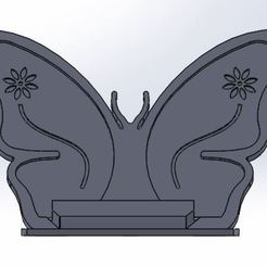 Butterfly Stand 1.JPG Download STL file Phone Stand Android or Apple • 3D printable design, guillermo9