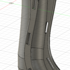 Leg Spine 1.png Download STL file Leg splint for small dogs • 3D printing design, GeeMan