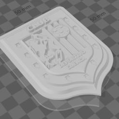 2.PNG Télécharger fichier STL Bouclier du Club Deportivo Cuenca • Objet à imprimer en 3D, Davirock3D