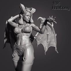 01_Thumbnail.jpg Download STL file 18K Anatomy - Succubus • 3D print object, 18k_Anatomy