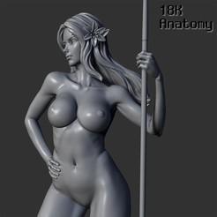 resize-01-title.jpg Download STL file 18K Anatomy - Elf with a spear • 3D print design, 18k_Anatomy
