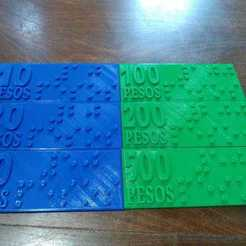 WhatsApp Image 2020-10-27 at 2.29.17 PM (2).jpeg Download STL file Weight tickets adapted to Braille reading system • 3D printable model, mundobraille3d