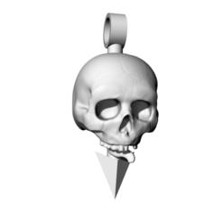 Untitled.png Télécharger fichier STL Pendentif en forme de crâne • Objet à imprimer en 3D, telperion