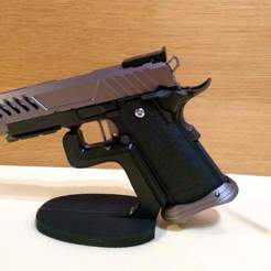 IMG_20201014_204725846.jpg Download STL file airsoft pistol display stand • Object to 3D print, preisoep