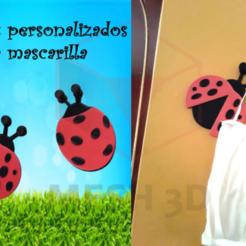 Mariquitas.png Download STL file Ladybug mask hook • 3D printing object, MESH3D
