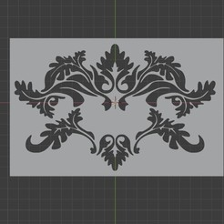 baroque1.jpg Download STL file baroque stencil • 3D printing object, Elius