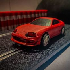 01.JPG Download STL file Toyota supra scalextric car complete • Model to 3D print, Slot3D