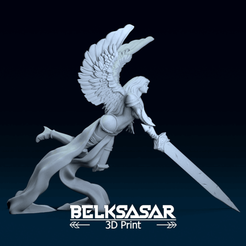 01.png Download OBJ file Akroma Angel of Wrath Topless 3D print model • 3D printer object, belksasar3dprint