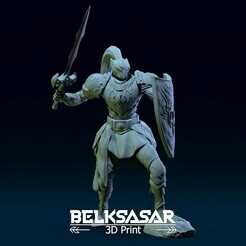 01.jpg Download OBJ file Paladin of the Phoenix cult 3D print model • 3D printer template, belksasar3dprint
