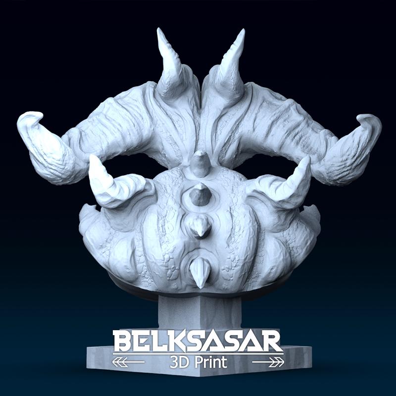 05.png Télécharger fichier OBJ Modèle d'impression 3D du buste du démon • Design imprimable en 3D, belksasar3dprint