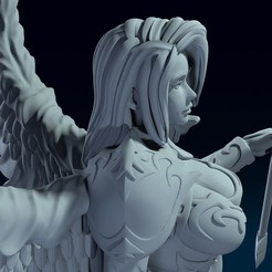 10.jpg Download OBJ file Female Archer Angel 3D print model • 3D print object, belksasar3dprint