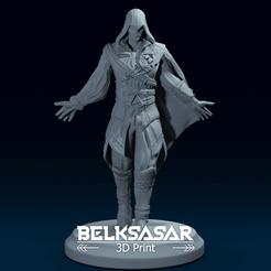 01.png Télécharger fichier OBJ Credo des assassins 2 Fanart - Modèle d'impression 3D d'Ezio Auditore • Modèle imprimable en 3D, belksasar3dprint