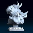 04.png Télécharger fichier OBJ Modèle d'impression 3D du buste du démon • Design imprimable en 3D, belksasar3dprint