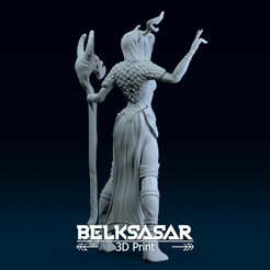 01.png Download OBJ file Female Druid Topless in dinamic pose 3D print model • 3D printer object, belksasar3dprint