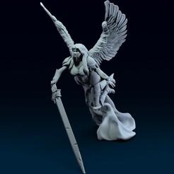 01.jpg Télécharger fichier OBJ Modèle d'impression 3D de l'ange de la colère • Design pour impression 3D, belksasar3dprint