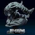 03.png Télécharger fichier OBJ Modèle d'impression 3D du buste du démon • Design imprimable en 3D, belksasar3dprint