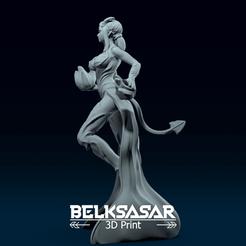 03.png Télécharger fichier OBJ Modèle d'impression 3D d'un sorcier féminin • Plan pour imprimante 3D, belksasar3dprint