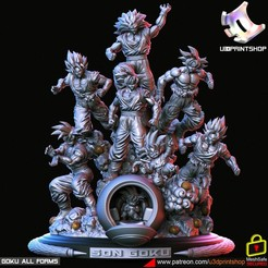 gokuallforms.3402.jpg Download STL file GOKU All Forms • Template to 3D print, U3Dprintshop