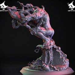 42866986_507457876388515_7961809278661033984_o.jpg Download STL file Venom vs Spiderman diorama • 3D print template, U3Dprintshop