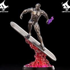 42919051_507466456387657_976022066656444416_o.jpg Download STL file Silver Surfer • 3D printing template, U3Dprintshop