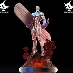 42959100_507465829721053_1532431171433005056_o.jpg Download STL file Silver Surfer • 3D printing template, U3Dprintshop