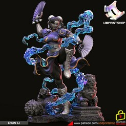 chunli.3457.jpg Download STL file Chun li Street Fighter  • 3D printable model, U3Dprintshop