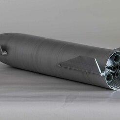 Painted_fin (4 of 20).jpg Télécharger fichier STL Vaisseau spatial SpaceX (chantier naval) • Design pour impression 3D, The3Dcreator