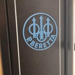 beretta.jpg Download STL file BERETTA LOGO • 3D printer object, XABABA-DESIGN
