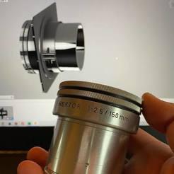 Hektor150mm.jpg Download STL file Linhof Lensboard for LEITZ HEKTOR 150MM F/2.5 • 3D printing template, FOGD