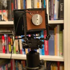 VistPinhole.jpg Download STL file Canham Lensboard for Vist Camera pinhole with shutter • 3D printing model, FOGD
