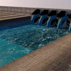 DAM PIC1_0006.png Download STL file Dam architectural model • Template to 3D print, Pharoh