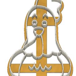 21-0069.png Download STL file Cookie cutter chicken • Template to 3D print, CookieCutterBoss