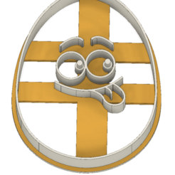 21-0073.png Download STL file Easter cookie cutter funny egg • Model to 3D print, CookieCutterBoss